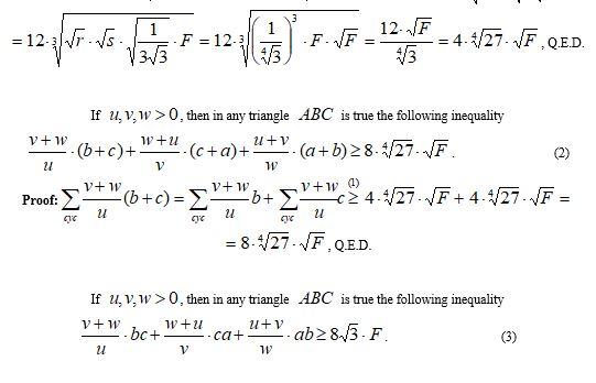 New Triangle Inequalities