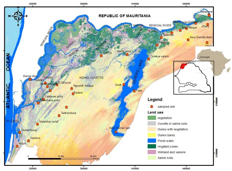 Historical and Recent Evolution of Waters Salinity in the Senegal River Delta