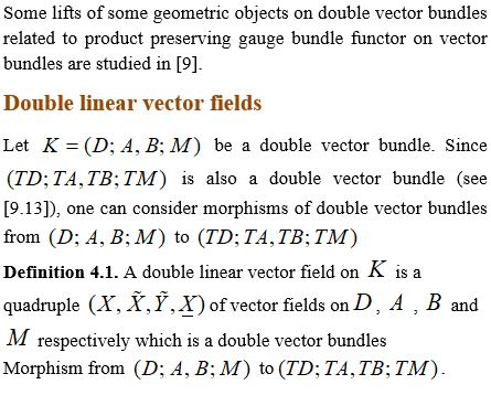 On Lifts of Double Linear Vector Fields Related To Product Preserving Gauge Bundle Functors on Vector Bundles