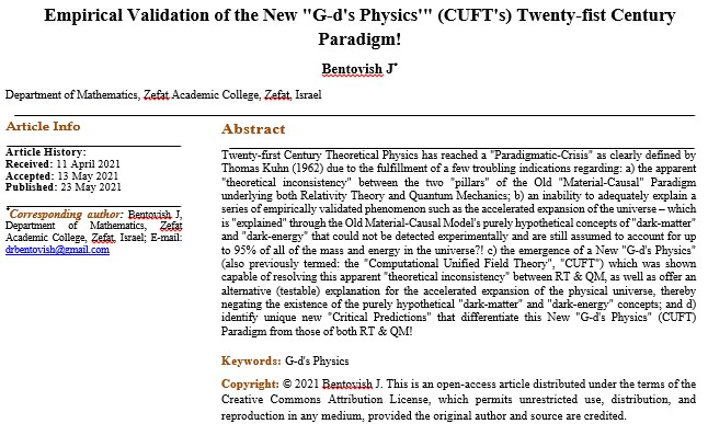 Empirical Validation of the New