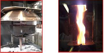 Development and Prediction of Flame Retarded Particleboard Fire Behaviour in Real Scale
